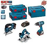 Bosch Kit PSL3WGGSM2A (GST 18 V-LI + GKS 18 V-LI + GSR 18 V-EC + 2 X 4,0Ah + L-Boxx 238 + 2 x L-Boxx 136)