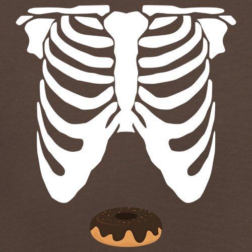 Skelett Donut Bauch - Herren T-Shirt - 13 Farben Schokobraun