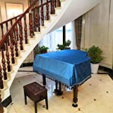 Dhm Glossy Cotton Triangle Piano Cover Simple Piano Cover (can Accept Any Size) (Size : 230cm+Stool cover(double))