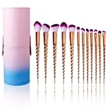12 Pcs Kit De Pinceau Maquillage (Gold-1)