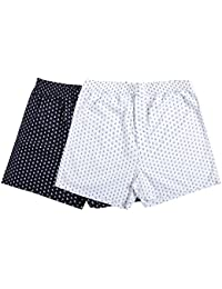 The Cotton Company Men's Cotton Printed Boxer Shorts - Pack of 2
