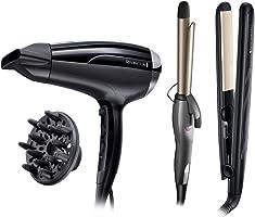Remington Ceramic 230 Hair Straightener - Black [S3500] plus Remington Pro-Air Shine Hair Dryer - D5215, Black plus...