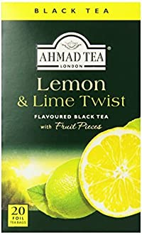 Ahmad Tea Lemon & Lime Twist Black Tea, 20-Count Boxes (Pack of 6)