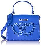 Love Moschino Borsa Calf Pu Blu - Borse Baguette Donna, Blau, 13x18x10 cm (L x H D) immagine