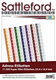 Sattleford Drucker Etiketten: 11200 Adress-Etiketten Super-Mini 25,4x16,9 mm Laser/Inkjet (Etiketten-Papier)