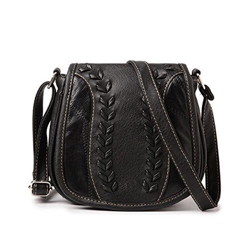 Retro Frauen Schulter Messenger Bag Kreuz Körper Tasche Mit Verstellbaren Schultergurt C