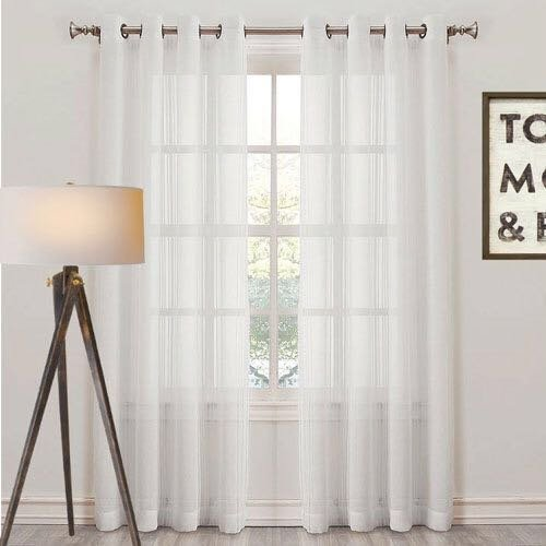Adorro set of 2 white sheer curtains