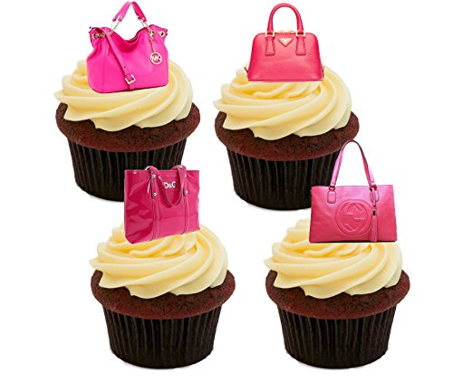 pink-designer-handbags-edible-cake-decorations-stand-up-wafer-cupcake-toppers-pack-of-12
