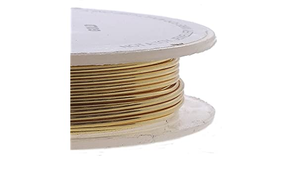 22ga Craft//Schmuckdraht 0,6 mm 10 m matt goldfarben