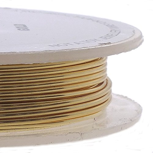 Craft/Schmuckdraht 1 mm (26ga), nicht versilbert, vergoldet, 20 m (20-gauge-draht Twisted)