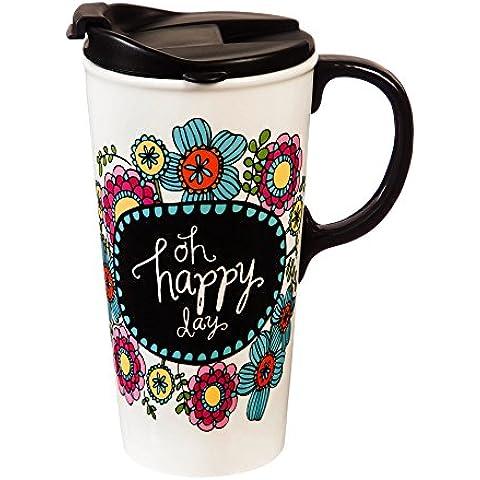 Evergreen Enterprises, Inc Oh Happy Day 17oz tazza da viaggio