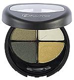 Flormar - Palette trucco Green garden 15341 - con pennellino e specchietto integrato. ombretti, palette ombretti colori caldi, palette occhi, trucchi occhi, ombretti in polvere, ombretti compatti,