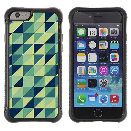 Graphic4You CHICKEN AND WAFFLES Muster Shockproof Anti-Rutsch Weichen Hülle Case Tasche Schutzhülle für Apple iPhone 6 / 6S Design #8