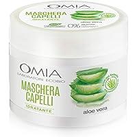 Omia - Maschera Per Capelli Erboristica con Aloe Vera del Salento, Trattamento Idratante e Illuminante per Capelli…