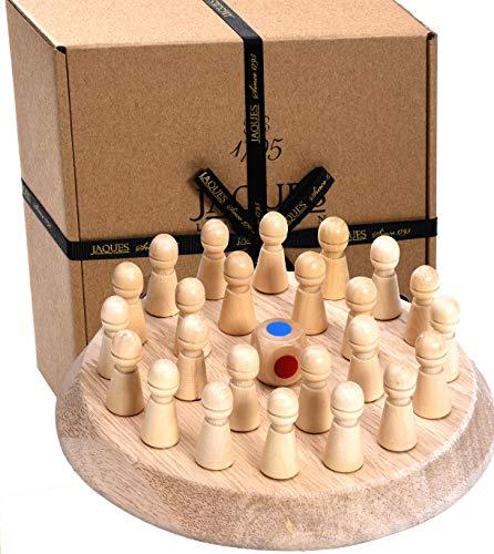 Jaques of London Holzgedächtnisspiel Wunderschönes Holzspielzeug und großartige Gedächtnisspiele für Kinder jeden Alters. Pädagogisches Kleinkindspielzeug für 2 3 4 5-Jährige.