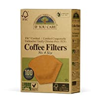If You Care Number 4 Cone Brown Coffee Filter - 100 per pack(Pack of 5)