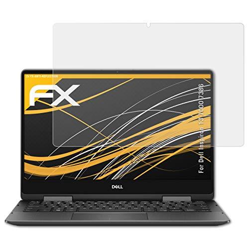 atFolix Panzerfolie kompatibel mit Dell Inspiron 13 7000 7386 Schutzfolie, entspiegelnde und stoßdämpfende FX Folie (2X) - Dell Inspiron 7000