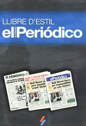 LLIBRE D'ESTIL D'EL PERIODICO DE CATALUNYA (VARIOS) por AUTORES EL PERIODICO / SPORT