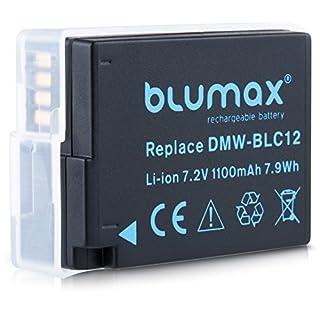 Blumax Akku ersetzt Panasonic DMW-BLC12 DMW BLC12e echte 1100mAh kompatibel mit DMC GX8 G70 G81 G85 G7 G6 G5 FZ2000 FZ2500 FZ1000 FZ200 FZ300