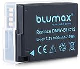 Blumax Akku für Panasonic DMW BLC12 DMW BLC12 E echte 1100mAh Extra starke Leistung passend für DMC GX8 G70 G81 G85 G7 G6 G5 FZ2000 FZ2500 FZ1000 FZ200 FZ300