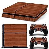 PlayStation 4 Designfolie Sticker Skin Set für Konsole + 2 Controller – Wood VII