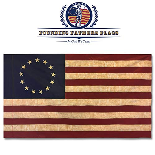 Betsy Ross Vintage bestickt Home Banner-3x 5'Oxford Polyester Banner W/Sleeve -