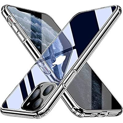 Blukar Cover per iPhone 11 PRO, Custodia Trasparente Protettiva per iPhone 11 PRO da 5.8 Pollici [2019]-TPU Silicone Caso, Anti Scivolo e Antiurto – Gelatina Trasparente