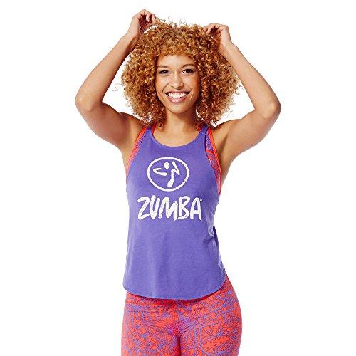 Zumba Fitness Damen WT Baby Got Back Tank Purple Moon, XL (Zumba-armband)