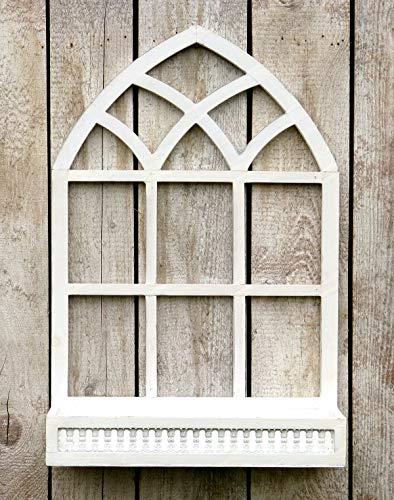 more-decor-de Wunderschönes Sprossenfenster zum Bepflanzen oder Dekorieren - zum Aufhängen oder Aufstellen - Weiß - 2 Größen erhältlich (Höhe: 75)