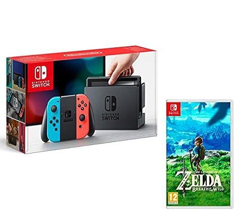 Nintendo Switch Konsole 32Gb Neon-Rot/Neon-Blau + The Legend of Zelda: