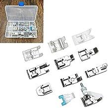 Juego de 11 piezas de accesorios domésticos para máquina de coser con caja de almacenamiento,