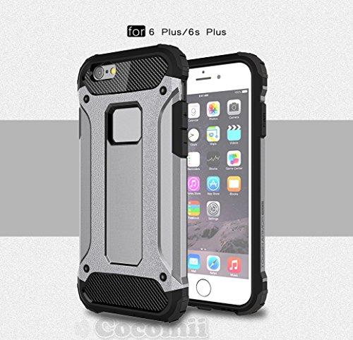 Cocomii Commando Armor iPhone 6S Plus/6 Plus Hülle [Strapazierfähig] Taktisch Griff Staubgeschützt Stoßfest Gehäuse [Heer Verteidiger] Case Schutzhülle for Apple iPhone 6S Plus/6 Plus (C.Gray) (Shield I Phone Plus Protector 6)