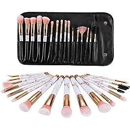 Gee-rgeous – Set di 16 pennelli sintetici da trucco professionali, per cipria, correttore, ombretto, eyeliner, per un…