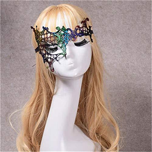 LYFWL Halloween-Spitze-Maskerade-Masken-Männer Weibliche Cosplay Reizvolle Abschlussball-Partei-Venetianische Maskerade -