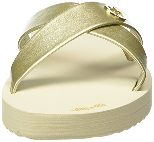 flip*flop Damen Original Cross Metallic 2 Pantoletten Gold (Pale gold 913)
