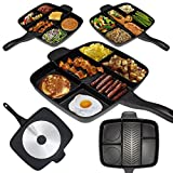 SahiBUY Veg Non-Veg Multi Section 5 in 1 Extra Large Non-Stick Family Master Pan