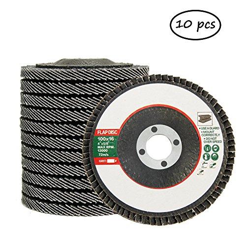 hothuimin 11,4cm X 7/20,3cm Premium Zirkonia Flap Disc Schleifscheibe 60/80/120Körnung Typ 29–10PACK # 50-flp