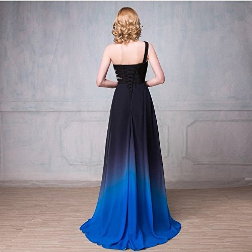 Drasawee - Robe - Taille empire - Femme Black and Royal Blue 3#