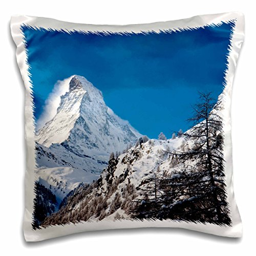 Danita Delimont - Brian Jannsen - Mountains - Matterhorn looms over town of Zermatt, Switzerland - 16x16 inch Pillow Case (pc_187334_1)