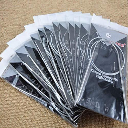 Premium Qualität 11 STÜCKE Edelstahl Rundstricknadeln Häkelnadel Weave Set schwarzCarry Stone (Rundstricknadeln 15 16)
