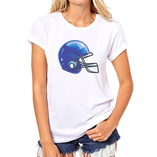 Blue Helmet American Futball So Bad Ass Damen T-Shirt Weiß