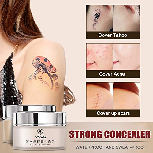 Ohyoulive Tattoo Concealer 2-Colored Toned Waterproof Cover Scar Birthmarks...