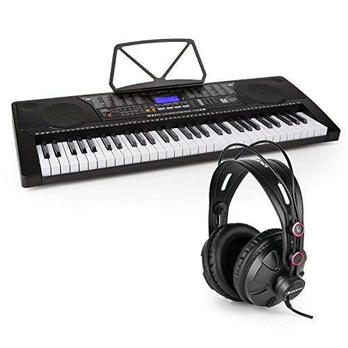 Schubert Etude 225 • Lern-Keyboard • 255 Stimmen • 255 Rhythmen • 50 Demo-Songs • USB • AUX • Kopfhörer- / Mikrofon-Anschluss • Aufnahme- / Playback-Funktion • inkl. Over-Ear Studiokopfhörer • schwarz