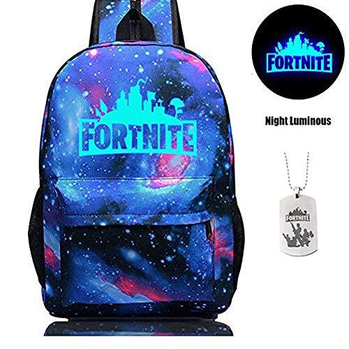 Sac à dos d'école de Fortnite, sac d'école de Fortnite étudiant élégant sac unisexe de toile d'ordinateur portable Sac de sac à dos sac quotidien pour...