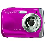 AquaPix W1024-P Waterproof Camera - Pink (10 MP) 2.4-Inch TFT LCD