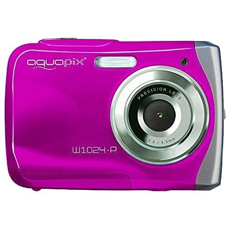 AquaPix W1024-P Waterproof Camera - Pink (10 MP) 2.4-Inch TFT LCD