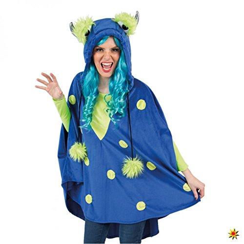 Orlob Handelsgesellschaft Damen Monsterkostüm Kleid blau Kostüm Monster Fantasy Märchen ()