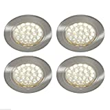 4 x 12V LED SPOTLIGHTS/DOWNLIGHTERS, CAMPERVAN, CARAVAN, MOTORHOME LIGHTING