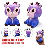 Squishies Clearance, Squishies Kawaii Galaxy Deer Slow Rising Jumbo Cream Scented Charms Soft Silicone Toys Anti Stress Squeeze Mini Squishy Animal Toys Squishy Slow Rising for Kids Stress Relief Toys for Kids Adults (multicoloured)