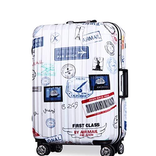 HUANGA Valigia trolley retrò, valigia retrattile valigia personalizzata da viaggio password -24 pollici (Color : A, Dimensione : 20 inches)